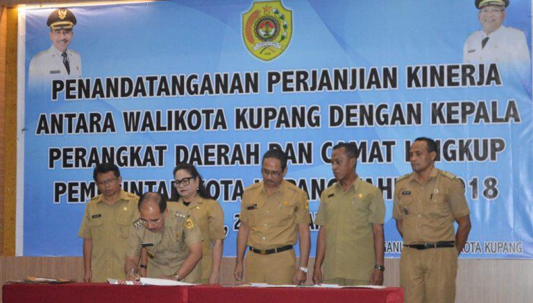 Wujudkan Visi Wali Kota Kupang, Perangkat Daerah Teken Perjanjian Kinerja